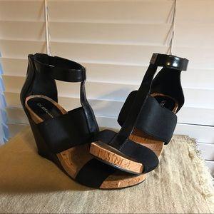 BCBGeneration Shoes - BCBGeneration Black Wedge Heels Size 6.5 NWT Nice!